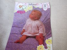 VINTAGE ORIGINAL KNITTING PATTERN ARGYLL 463 DK BABYTIME DRESS 14 - 20""
